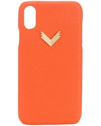 Manokhi IPhone XR-Hülle mit Prägung - Orange