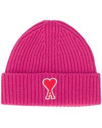 AMI De Coeur Beanie - Pink