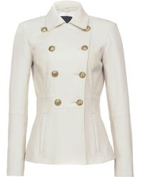 Pinko Double-breasted Tailored Jacket - White