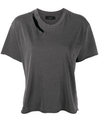 Amiri スラッシュ Tシャツ - ブラック