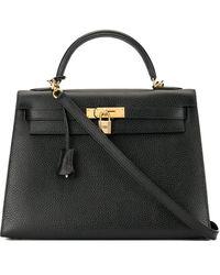 Hermès Borsa doppio uso Kelly 32 Pre-owned - Nero