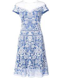 Tadashi Shoji - Crochet Lace Off-the-shoulder Dress - Lyst