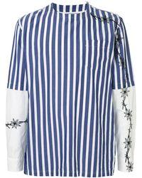 Sacai - ストライプ Tシャツ - Lyst
