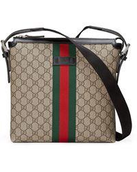 Gucci - Bolso messenger Web GG Supreme - Lyst