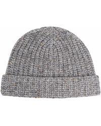 Alanui Ribbed-knit Beanie - Grey