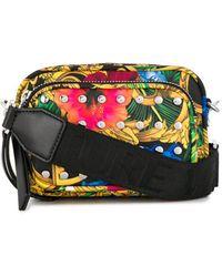 Versace Jeans Jungle Print Studded Bag - Black