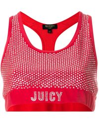 Juicy Couture Verziertes Cropped-Top - Rot