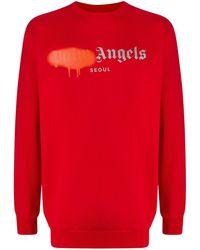 Palm Angels ロゴ スウェットシャツ - レッド