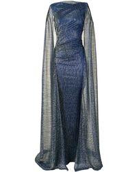 Talbot Runhof Bonoso Evening Dress - Blue