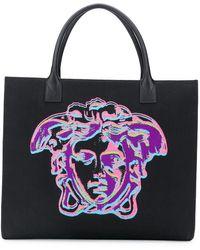 Versace Сумка-тоут С Декором Medusa - Черный