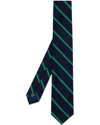 Polo Ralph Lauren Cravate en soie à rayures diagonales - Bleu