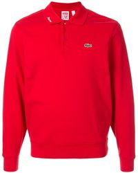 Supreme Lacoste Jersey Polo Top - Red