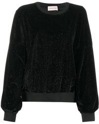 Alexandre Vauthier グリッター スウェットシャツ - ブラック