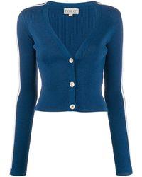 Fiorucci Logo Long-sleeve Cardigan - Blue