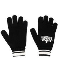 Dolce & Gabbana - Crown Logo Intarsia Gloves - Lyst