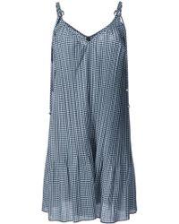 Adam Selman - Gingham Pleated Dress - Lyst