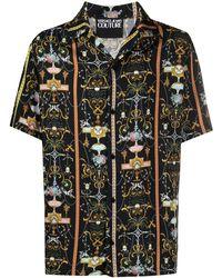 Versace Jeans Couture Signature Baroque Print Shirt - Blue