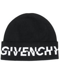 Givenchy ロゴ ビーニー - ブラック
