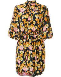 JOSEPH - Florales Kleid mit Puffärmeln - Lyst