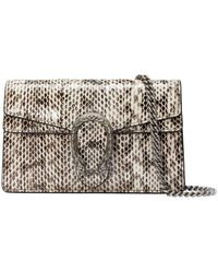 Gucci Dionysus Super Mini Snakeskin Bag - White