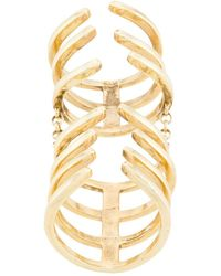 FEDERICA TOSI Armour Hook Articulated Ring - Metallic