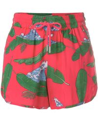 Zoe Karssen - Wave And Palm Leaf Shorts - Lyst