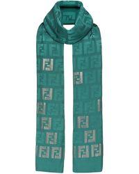 Fendi Платок С Монограммой Ff - Зеленый
