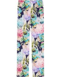 Gucci - Hydrangea Silk Pyjama Pant - Lyst