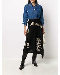 Polo Ralph Lauren アシンメトリー スカート - ブラック