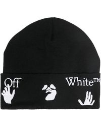 Off-White c/o Virgil Abloh Logo-print Beanie - Black