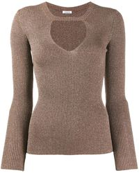 P.A.R.O.S.H. Cut Out Sweater - Brown