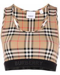 Burberry Укороченный Топ В Клетку - Многоцветный