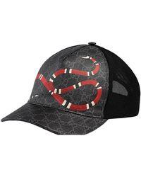 Gucci Snake GG Jacquard Baseball Cap - Black