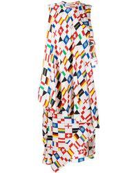 Balenciaga Платье С Принтом - Белый