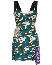 Natasha Zinko - Robe courte à imprimé camouflage - Lyst