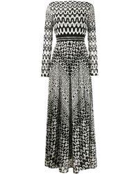 Missoni - Robe longue imprimée à manches longues - Lyst