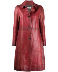 Golden Goose Deluxe Brand Пальто На Пуговицах - Красный
