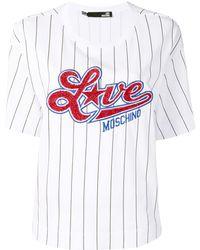 Love Moschino - T-shirt à sequins brodés - Lyst