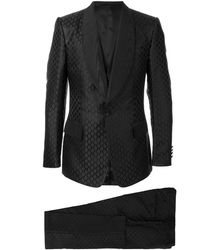 Dolce & Gabbana Jacquard-Anzug - Schwarz