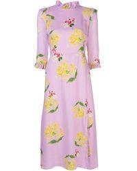 Cynthia Rowley Elena Ruffled-neck Dress - Pink