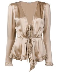 Tomas Maier - Tied Ruffled Blouse - Lyst