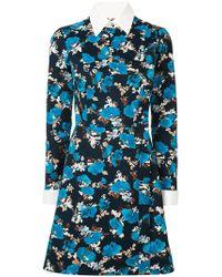 Dalood - Side Button Floral Print Dress - Lyst
