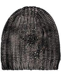 Avant Toi Knitted Beanie - Black