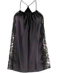 La Perla Camisola con ribete de encaje - Negro