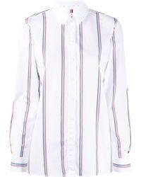 Tommy Hilfiger Gestreept Shirt - Wit