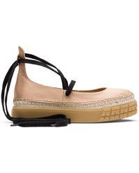 Prada Satin Platform Ballerina Shoes - Pink