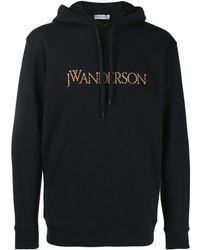 JW Anderson Embroidered Logo Hoodie - ブラック