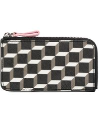 Pierre Hardy Perspective Cube-print Wallet - Black