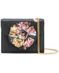 Oscar de la Renta Mini Tro Bag With Flower Detail - Multicolor