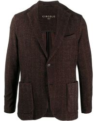 Circolo 1901 ジグザグパターン ジャケット - ブラウン